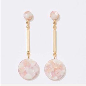 Loft marbleized drop earring